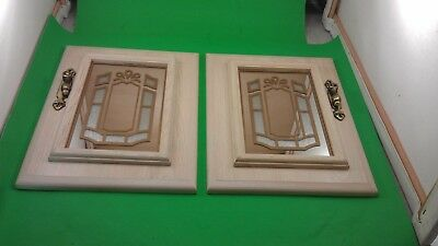 2 Antique Cabinet Doors With 2 Handles
