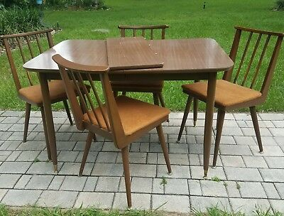 Mid Century dining table and chair set Danish Parragon Furn. USA Vintage