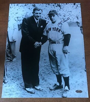 Yogi Berra Signed Standing With Babe Ruth 11 x 14 Photo Steiner COA