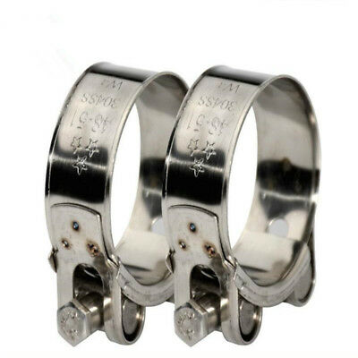 W4 304 Stainless Steel Hose Clamps/Supra/Exhaust/T Bolt/Marine Clip 17-39mm 2pc