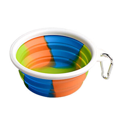 Foldable Collapsible Silicone Dog Bowl Pet Cat Cup Dish Food Water Feeding Tool_