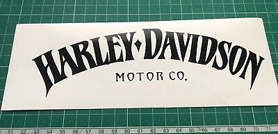 2 X Harley Davidson Style Tank Vinyl Decals Sold As A Pair.