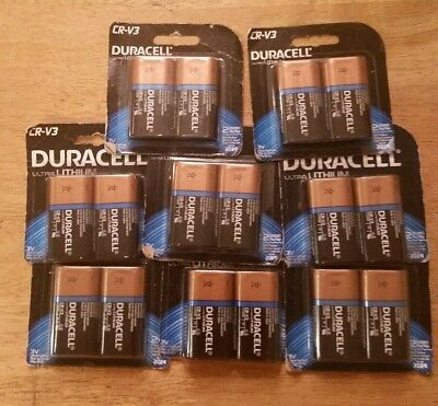 16 Batteries-Duracell Ultra Lithium CR-V3 Battery 3V-(8-2 packs) EXP 2024