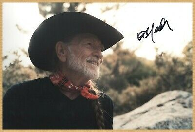 Willie Nelson - Country Legend - Rare authentic in-person signed large photo