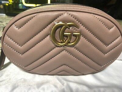 2481bd64036b GUCCI GG MARMONT Matelassé leather belt bag (95) - $600.00 | PicClick
