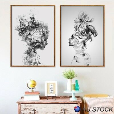 Abstract Personality Smoked Girl Boy Canvas Wall Art Painting Pictures Decor New