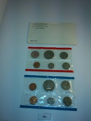 1971 P D & S US Mint Uncirculated Coin Set w/ Envelope  **NICE** (561)