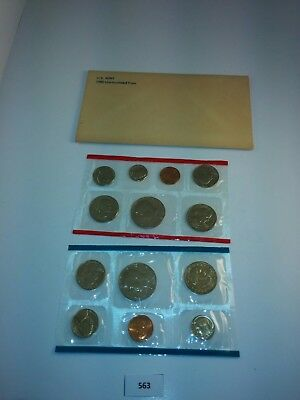 1980 P D & S US Mint Uncirculated Coin Set w/ Envelope  **NICE** (563)