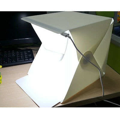 Tent Backdrop Cube Box Double LED Light Room Photo Studio Photography Lighting