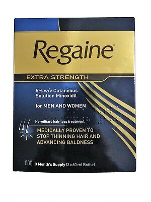 Regaine Extra Strength Solution For Men & Women (Minoxidil) 3 Months Supply
