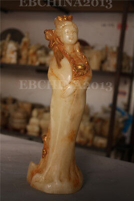 Antique Chinese Hand-carved jade STATUES Four women in China ancient 2501