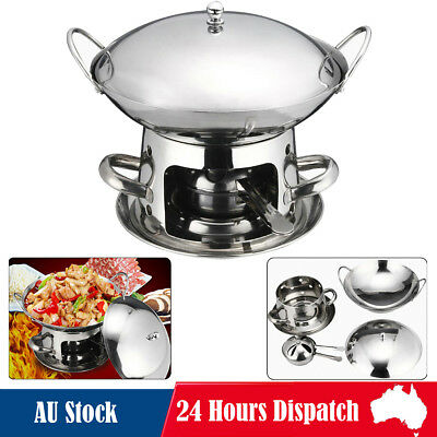 Stainless Steel Chafing Dinning Dish Hotpot Server Food Warmer Heater Buffet Set