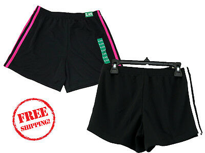 6183a4ffd7b6 NEW Adidas Girl s Mesh Shorts Black w  Pink Stirpes or White ALL Sizes NWT !