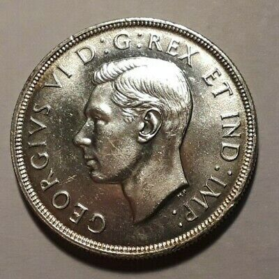 1947 Blunt 7 (Bl. Seven) Canada Silver Dollar Nicer Luster And Condition