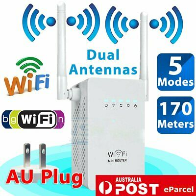 802.11 300Mbps Wireless WiFi Repeater Range Extender Signal Booster Router AU