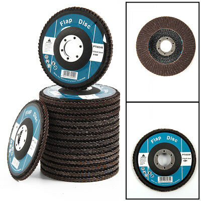 15 x Flap Discs Sanding High Quality 40 60 80 Grit Grinding Wheels Angle Grinder