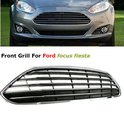 Front Bumper Center Grille Grill Horizontal Stripes For Ford Fiesta 2014-2016