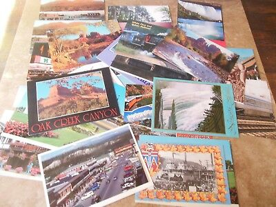 Postcards From Canada And Usa Assorted Lot Of 37 All Unposted