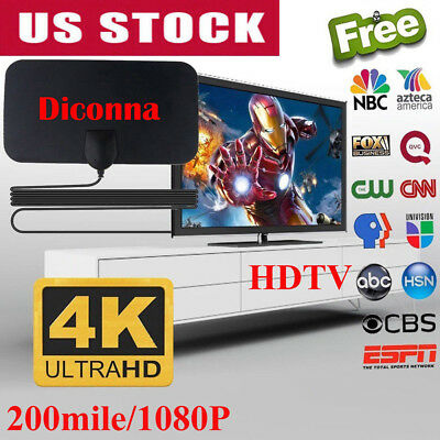 200 Mile Range Antenna TV Digital HD Skylink 4K Antena Digital HDTV 1080P US