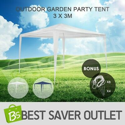Outdoor Folding Garden Waterproof Marquees Gazebo Party Tent Canopy BBQ 3x3m WH
