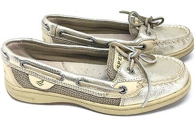 e7ba276bf5f8 SPERRY Women's Top-Sider Angelfish Gold Leather 9102187 Size 5 M Boat Shoes