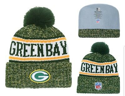 5d69ca9af 2018 GREEN BAY Packers New Era NFL Knit Hat On Field Sideline Beanie ...