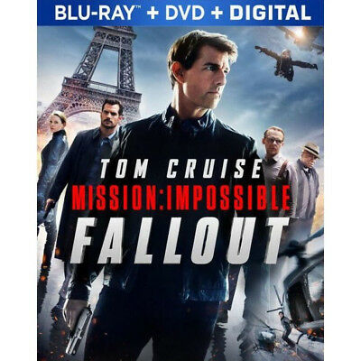 MISSION IMPOSSIBLE FALLOUT Blu-ray/DVD/Digital w/ slipcover