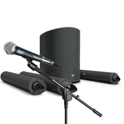 LD Systems Maui 5 GO Pack w/ Microphone and Stand Portable Battery PA w/ Mixer