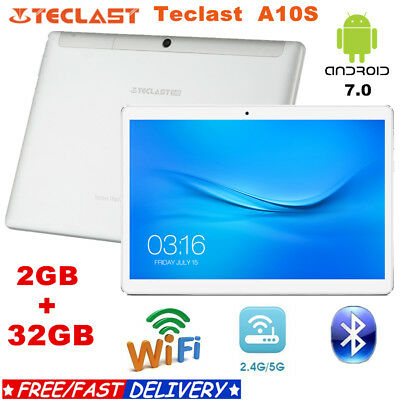 Teclast A10S Tablet PC 10.1'' Android 7.0 Dual Wifi 2GB+32GB Quad Core GPS BT4.0