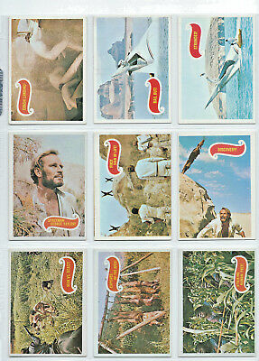 Planet of the Apes (Green) Complete Card SET (44) 1969 Topps T.C.G. USA - EX+/NM
