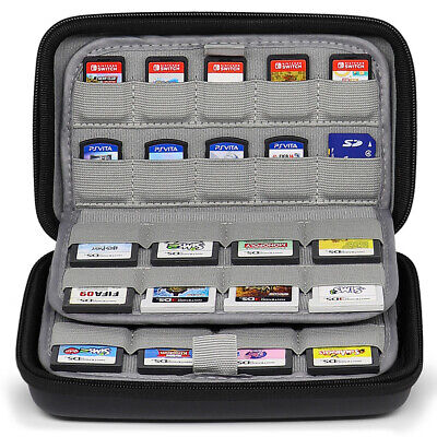 72 Games Holders Collection Storage Case for Nintendo Switch 3DS DSi PSV SD Card