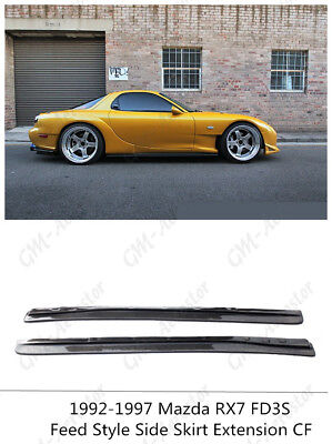 REV Side Skirt Extension Under Board Add On For Mazda RX7 FD3S Fed Carbon Fiber