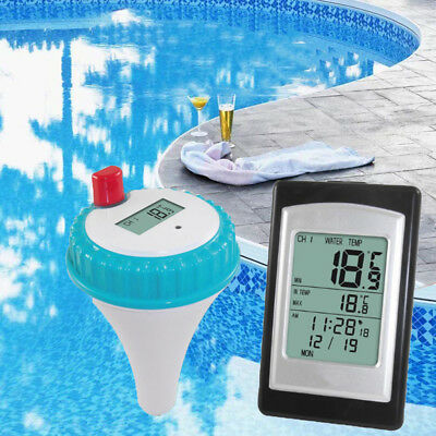 Receiver Remote Control Swimming Pool Wireless Digital LCD Buoy Thermometer