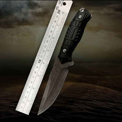 Tactical Straight Knife Outdoor Tool Wilderness Survival Fixed Blade Knife
