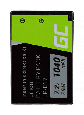 Battery LP-E17 for Canon EOS 77D 750D 760D M3 M5 M6 Rebel T6i T6s 1000mAh
