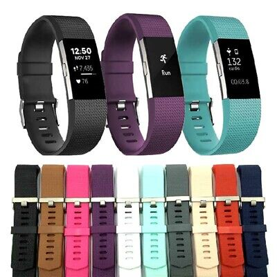 Sport Wristband Silicone Replacement Band Strap Bracelet Fitbit Charge 2 S L