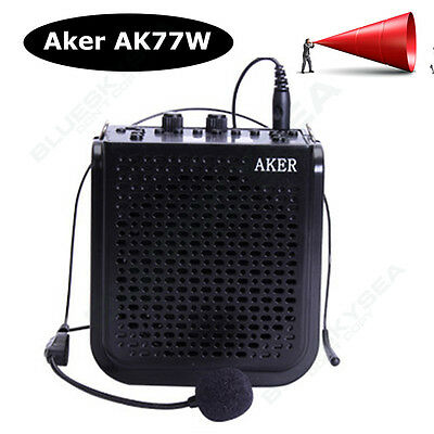 25W Portable Voice Amplifier for Teaching Guiding Speaker FM MP3 Microphone P6