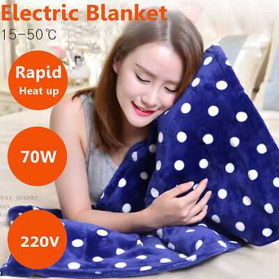 Bedding Washable Heated Electric Throw Rug Fleece Snuggle Blanket Pad 50*80cm