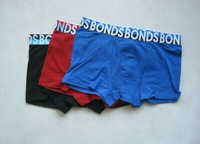 3 X Men's  Bonds Underwear Everyday Trunks