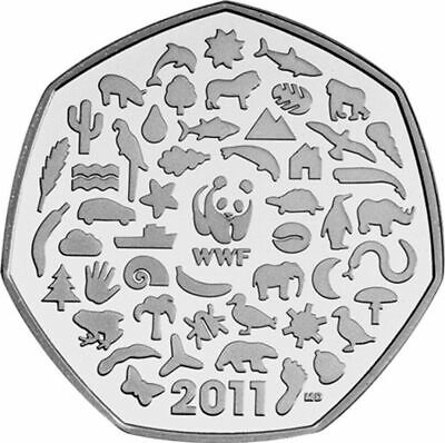 2011 WWF PANDA 50th ANNIVERSARY OF THE WORLD WILDLIFE 50p FIFTY PENCE COIN UNC