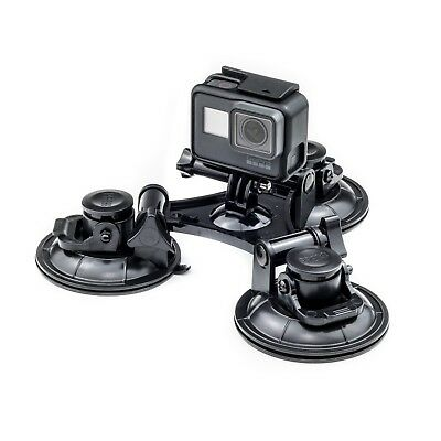 Triple Suction Cup Car Mount For Olympus TG-tracker Nikon Key mission Action Cam