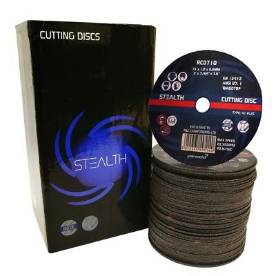 Stealth Professional 75mm 3 Inch Slitting Discs Air Tool Cutting Cut Off Disc