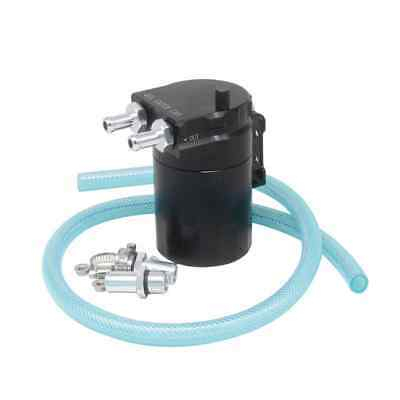 300ML Universal Baffled Aluminium Oil Catch Breather Can Reservoir Tank Black