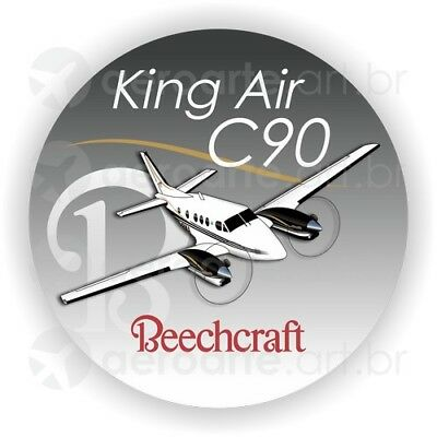 Beechcraft King Air C90 aircraft round sticker