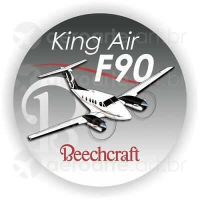 Beechcraft King Air F90 aircraft round sticker