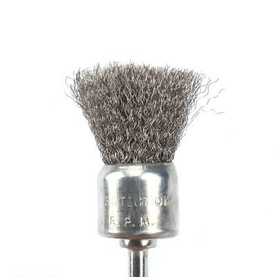 1Pc 25mm Stainless Steel Wire Cup Brush Cleaner Rotary Polishing Tool  6mm Shank