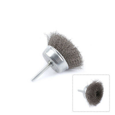 75mm Rotary Stainless Steel Wire Cup Brush Buffing Rust Removal Tool 6mm Shank
