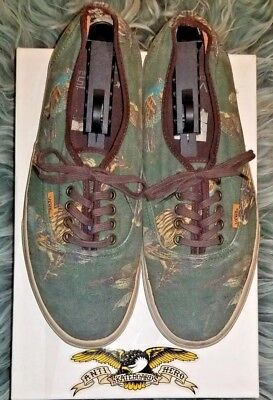 a797cd4865 Vans CALI Birds Pattern Hunter Green Mens 10.5 Skate Canvas Sneaker supreme  FREE