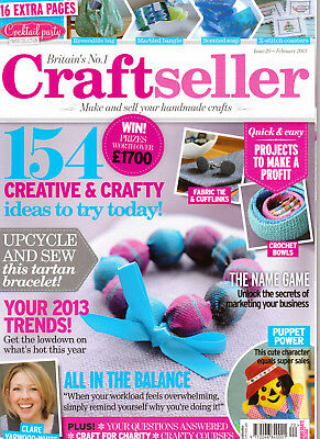 CRAFTSELLER MAGAZINE  HOW to make and sell your handmade