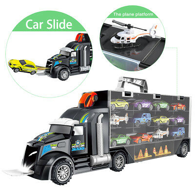 Transport Carrier Truck Set - 15pc Multi Colour Car Transporter Toy For Kids UK